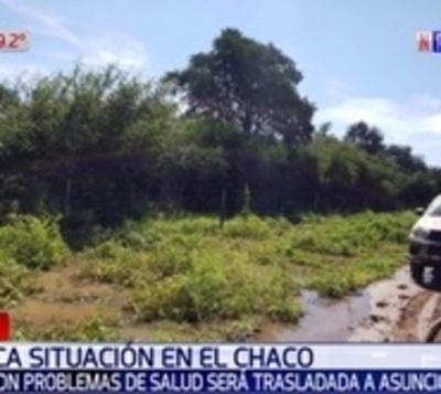 Caminos intransitables en Chaco impiden trasladar a menor enferma