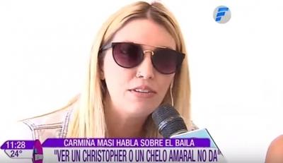 """Carmiña Masi no quiere ver ex """"Calle 7"""" en """"Baila Conmigo"""""""