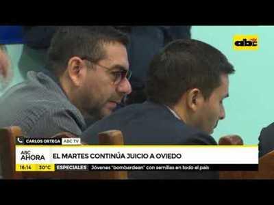 El martes continua juicio a Oviedo
