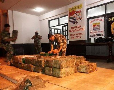 Hallan 874 kg de droga en un puerto clandestino