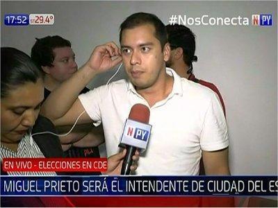 Miguel Prieto promete terminar con la corrupción en comuna de CDE
