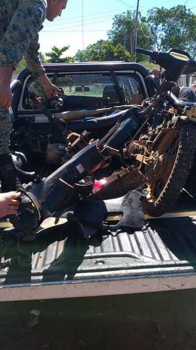 Recuperan motocicletas desarmadas en Concepción