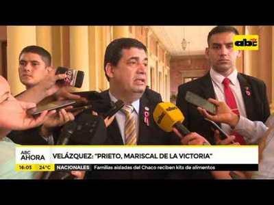 El mariscal de la victoria es Prieto, afirmó Velázquez