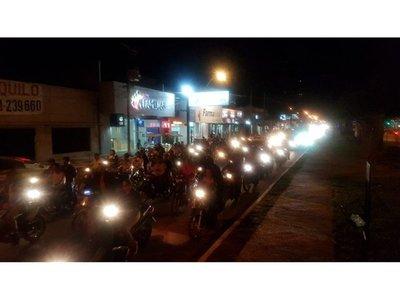 Motociclistas copan calles de Concepción por la transparencia