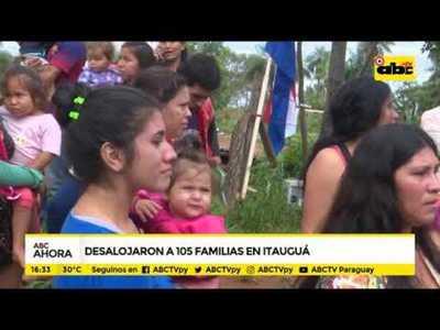 Desalojan a familias en Itauguá