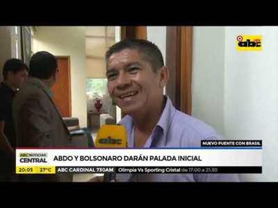 Abdo y Bolsonaro darán palada inicial