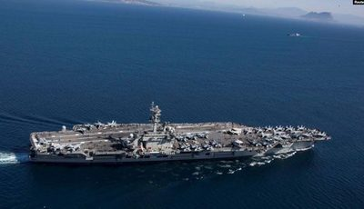 Portaviones de EE.UU. llega al Medio Oriente en medio de tensiones con Irán