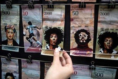 """El Che, Escobar y Frida se unen para """"revaluar"""" la moneda venezolana"""