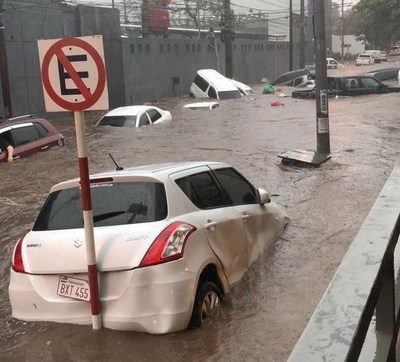 Diluvio en Asunción y Área Metropolitana · Radio Monumental 1080 AM