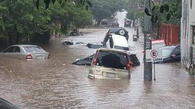 Intensa lluvia provocó estragos en zonas de la Gran Asunción