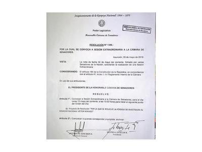 El Senado oficializa llamado para tratar destitución de Víctor Bogado