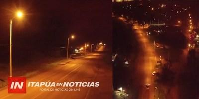 INAUGURARÁN ILUMINACIÓN DE 4 KM SOBRE LA RUTA 1.