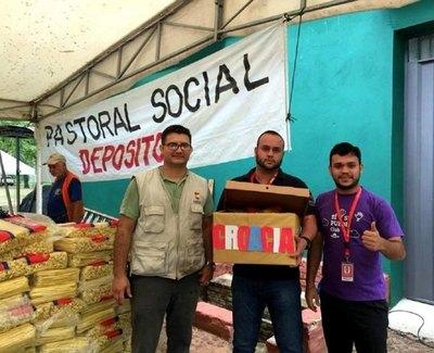 Pastoral lanzó campaña de ayuda a damnificados