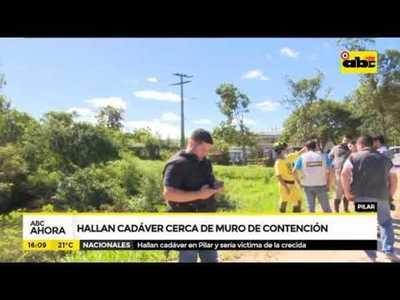 Pilar: Hallan cadáver cerca de muro de contención