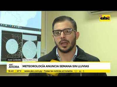 Meteorología anuncia semana sin lluvia