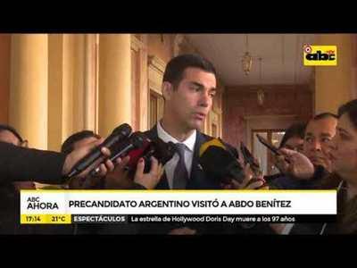 Pre candidato argentino visitó a Abdo