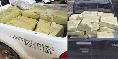 INCINERAN DOS TONELADAS DE MARIHUANA INCAUTADAS EN ITAPÚA.
