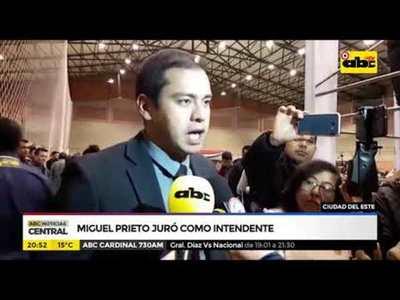 Miguel Prieto juró como intendente