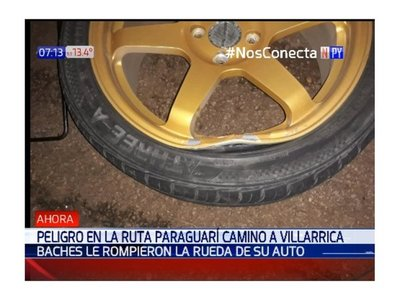 En una noche, baches de la ruta Paraguarí-Villarrica dejaron una decena de afectados