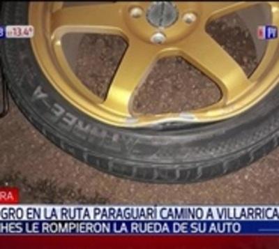 Bache rompeautos: Dejó sin rueda a 8 vehículos el mismo día
