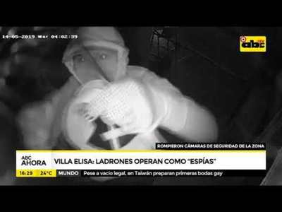 """Ladrones operaron como """"espías"""" en Villa Elisa"""