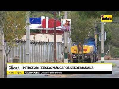 Petropar, precios mas caros desde mañana