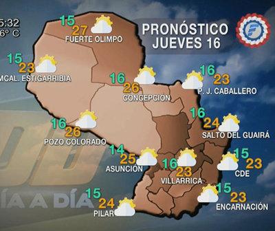 Baja probabilidad de lluvias a nivel país