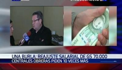 Trabajadores piden que el salario mínimo sea de G. 3 millones