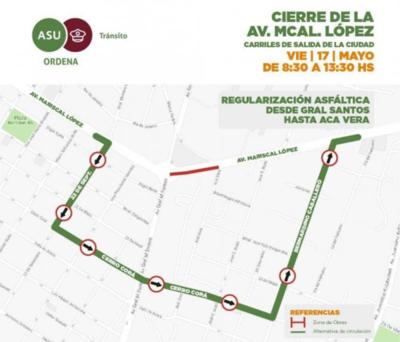 Clausuran una parte de la avenida Mcal. López