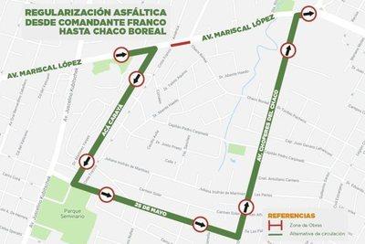 Solamente se va a poder transitar por el carril de ingreso a Asunción