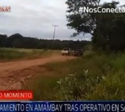 Comitiva fiscal y policial realiza operativo infructuoso en Amambay