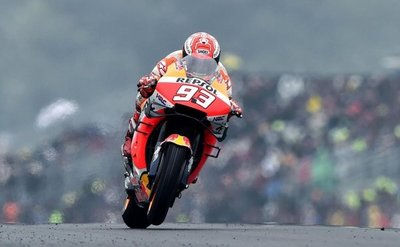 Pole de Márquez en MotoGP