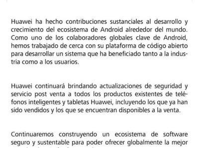 Huawei emite comunicado para sus clientes en Paraguay