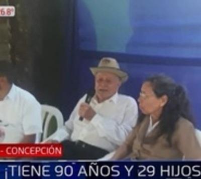 Abuelo tiene 90 años y 29 hijos