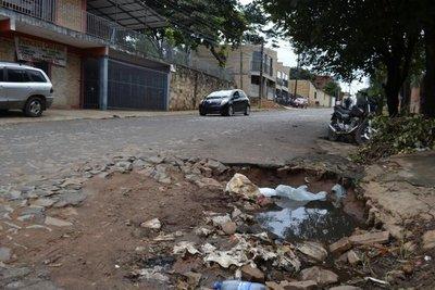 Calle Colonia Elisa en deplorable estado