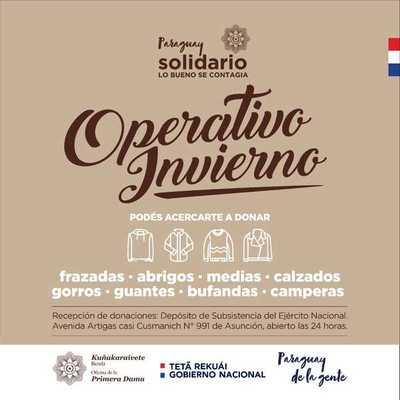 Instan a sumarse al «Operativo Invierno» mediante donaciones de abrigos