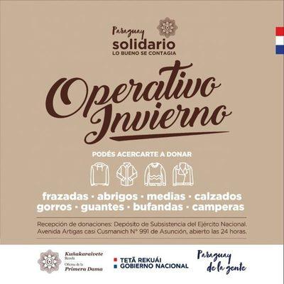 """Instan a sumarse al """"Operativo Invierno"""" mediante donaciones"""