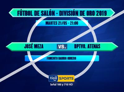 José Meza versus Atenas, por la División de Oro