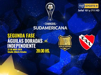 Águilas Doradas recibe a Independiente de Avellaneda, por los 16avos de la Suda
