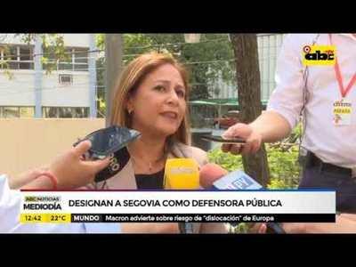 Designan a Segovia como defensora pública