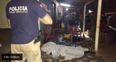 6 personas fueron acribilladas en atentado en Pedro Juan Caballero