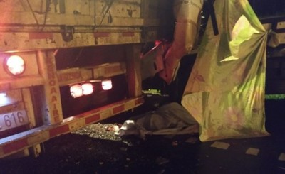 Choque de camiones dejó un fallecido