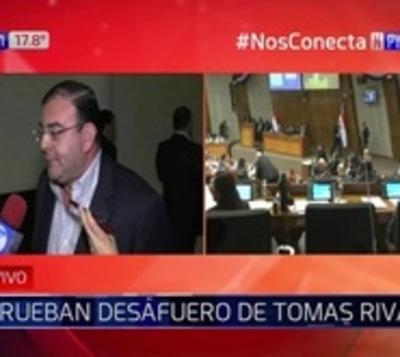 Diputado Tomás Rivas fue desaforado