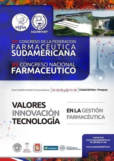 Paraguay será sede del Congreso de la Federación Farmacéutica Sudamericana