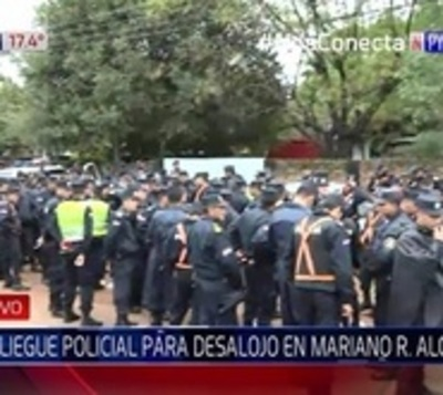 Movilizan 600 policías para desalojar a 20 familias