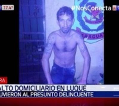 Capturan a peligroso delincuente domiciliario en Luque