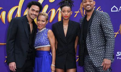 """Will Smith llevó a toda su familia a la premiere de """"Aladdin"""""""