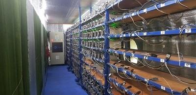 Desmantrelan producción de Bitcoins con energía robada