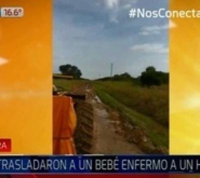 Chaco: 10 horas en tractor para llevar a un bebé al hospital