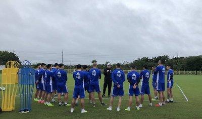 La selección paraguaya trabaja en lo táctico en su cuarto día de entrenamiento